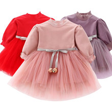 Baby girl clothes baby girl dress stitching tutu mesh dress