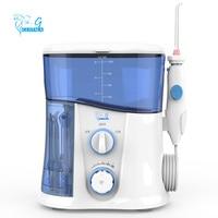 gustala 1000ml Home Oral Irrigator Dental Water Flosser Jet Teeth IPX7 Waterproof UV Sterilization 10 level water pressure EU