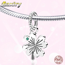 Luxury Leaf 925 Sterling Silver CZ Beads Charm Bracelet DIY Beads Fit Bracelet Charms Silver 925 Original Beads Jewelry Making