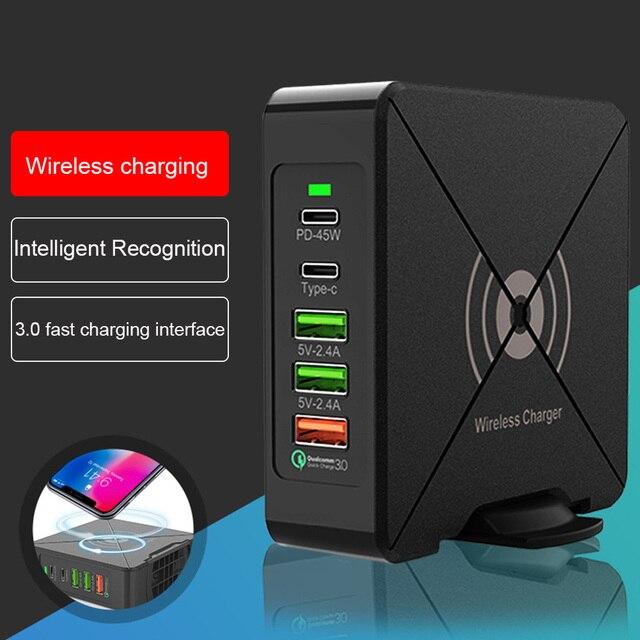 75W PD Loại C 3 USB Nhanh Thông Minh 100 240V 45W Cảm Ứng Sạc Nguồn Laptop adapter Dành Cho Iphone