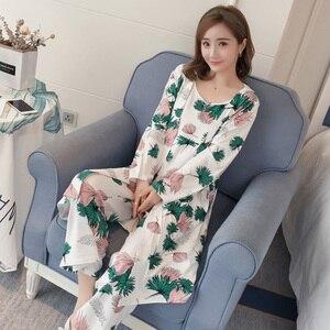 Image 5 - Suknia ustawia kobiety koreański styl codzienne drukowane słodkie szaty damskie modne oddychające eleganckie ubrania Homewear miękkie studenci kobieta