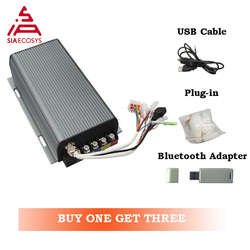 Kontroler Sabvoton SVMC72200 72v 200A kontroler sinusoidalny do silnik BLDC z adapter bluetooth silnik elektryczny skuter piasty
