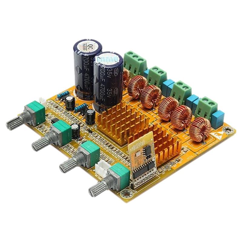 ABKT-Bluetooth 2.1 Power Amplifier Board High-Power Finished Digital Class D 3-Channel HIFI Subwoofer 100W