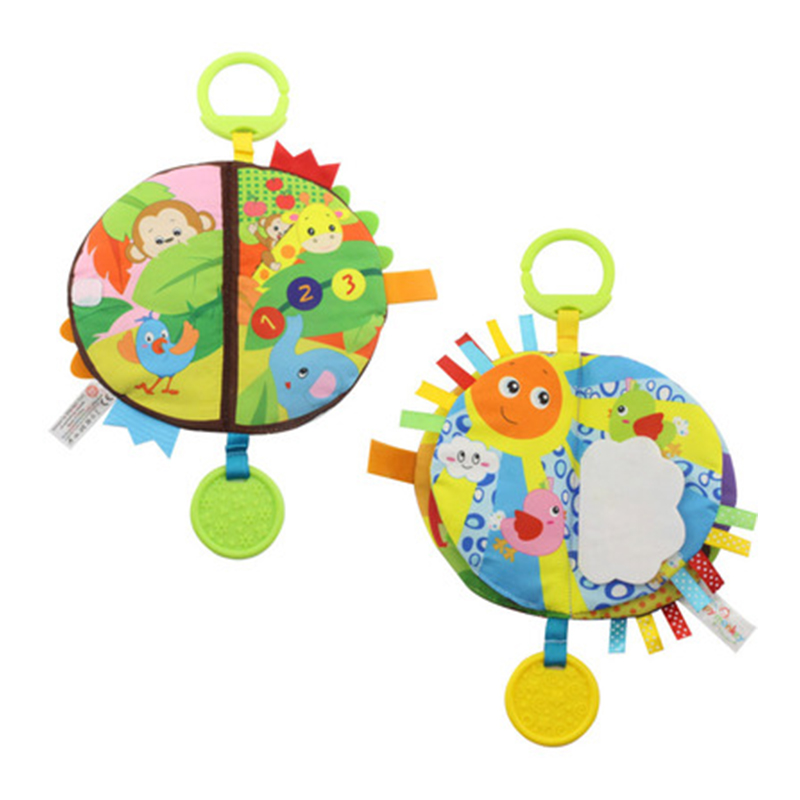 Early Education Puzzle Toy Cute Cartoon Soft Rubber Hand Ball Bed Bell Baby