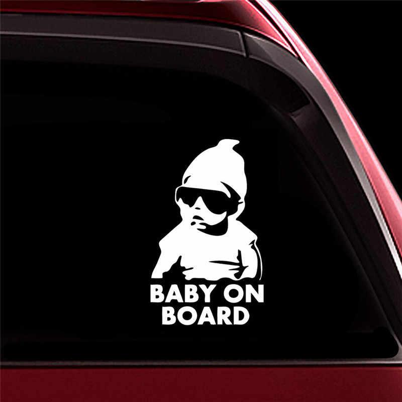 Personnalité Cool autocollant Cool arrière lunettes de soleil réfléchissantes pour enfants voiture autocollants avertissement autocollants voiture autocollant voiture accessoires