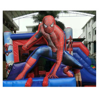 Factory Price Commercial inflatable castle bounce house castle slides inflatable bounce slide combo
