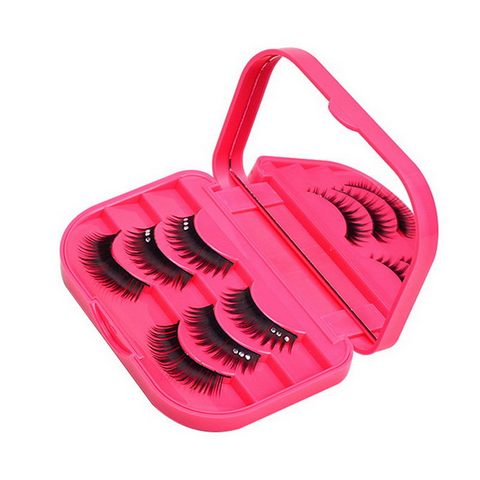 Hot Sale False Eyelashes Storage Box with Beauty Mirror Box Rose Red Makeup Tool ABS Plastic Gift Multan