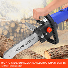 11.5 Inch Portable DIY Electric Saw Chainsaw Bracket Set Angle Grinder to Electric Chain Saw Converter Household Logging Saw(China)