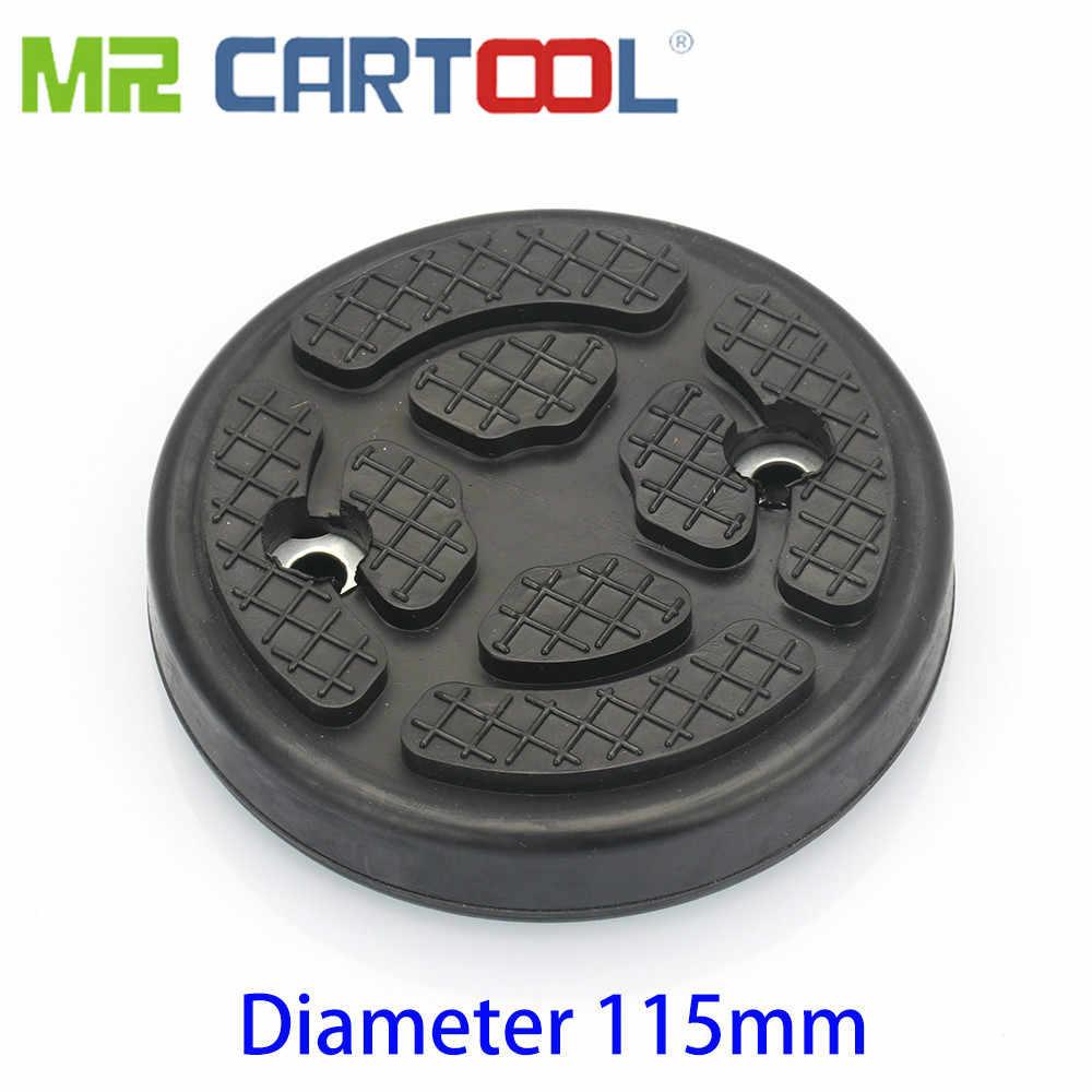 מר Cartool 2pcs גומי שקעי מעלית כרית עגול זרוע רפידות קוטר 115mm עבור רכב 2-הודעה רכב שקע מעלית