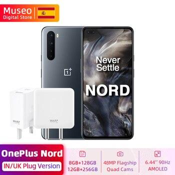 Перейти на Алиэкспресс и купить В/UK глобальная версия OnePlus Nord 5G Смартфон Snapdragon 76 5G 128GB / 256GB 6,44 ''90 Гц активно-матричные осид, 48MP Quad камеры 30 Вт NFC