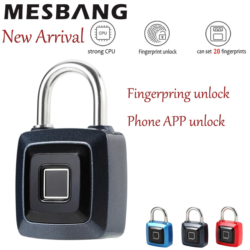Bluetooth Smart Fingerprint Lock Padlock Battery Keyless USB Rechargeable Lock Phone Unlock Security Anti-theft Door Lock New