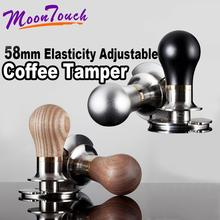 58MM Barista Espresso Coffee Tamper Solid Jade/Printed Frosted Handle Stainless Steel Base Powder Hammer Tools