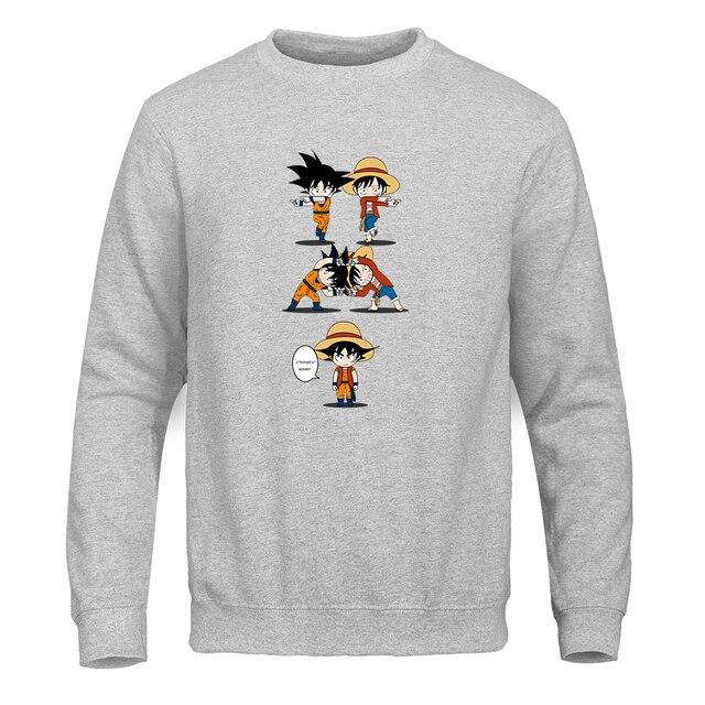 Dragon Ball Goku Sweatshirt Men Stylish Hoodies Unisex color: Black|Blue|Dark Gray|Gray|Navy blue|Red|White