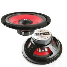 2 Stks/partij 165Mm Waterdicht 6.5 Inch Ik Sleutel Kopen Auto Audio Luidspreker 4 Ohm Rode Injectie Kegel Foam Rand full Range Speaker