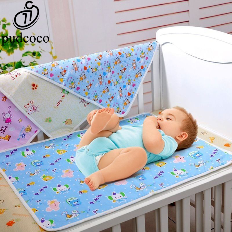Baby Kids Waterproof Bedding Diapering Changing Mat Washable Breathable Cotton``