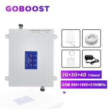 GOBOOST AMPLIFICADOR celular 2G 3G 4G GSM 900 1800 2100 4G DCS LTE Amplificador de señal móvil, amplificador para teléfonos, Kit de antena 4G