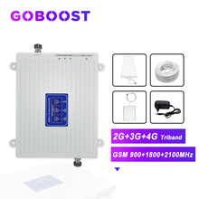 GOBOOST Cellular Amplifier 2G 3G 4G GSM 900 1800 2100 4G DCS LTE Cellular Signal Booster Cell Phones Amplifier 4G Antenna Kit