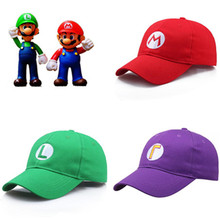 Costumes-Accessories Baseball-Cap Anime-Game Super-Mario-Hat Japan Cosplay Cute Cartoon