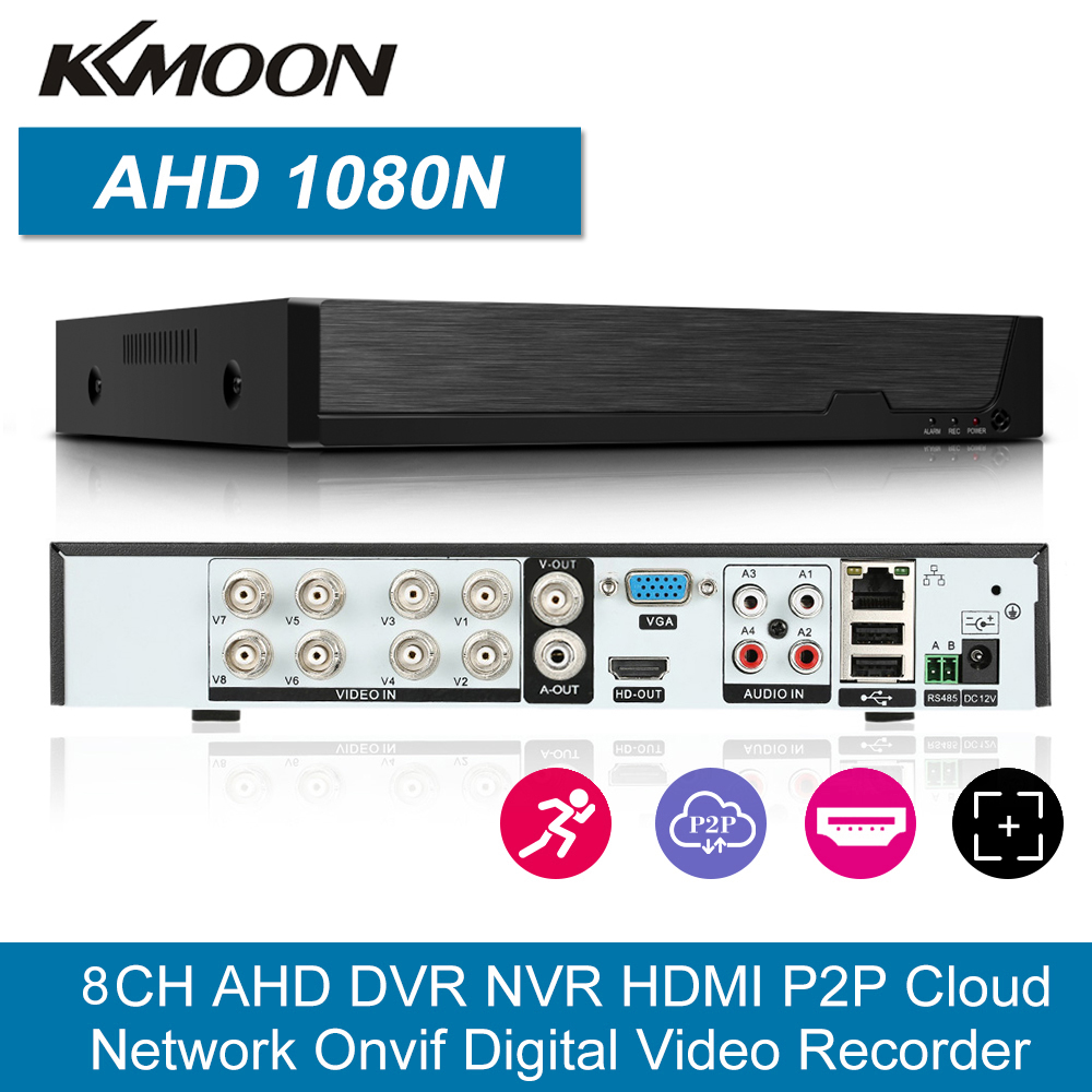 KKmoon 16CH 1080P Hybrid AHD P2P DVR 5-in-1 Digital Video Recorder P2P Onvif APP