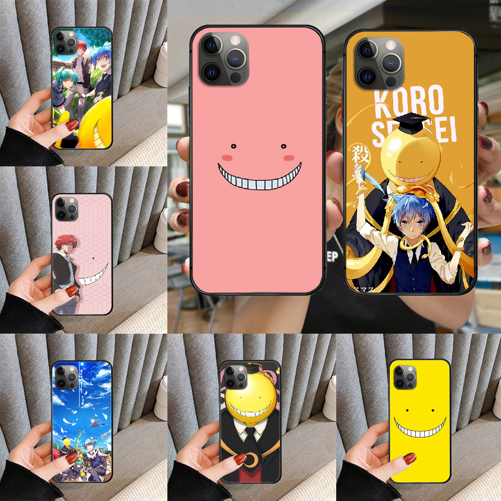 Assassination Classroom Phone Case Cover For Iphone 5 5S 6 6S PLUS 7 8 11 12 Mini X XR XS PRO SE 2020 MAX Black Back 3D Shell