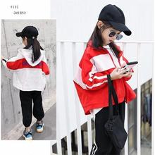 Girls Spring Clothing Coat 2019 New Style Korean-style Big Boy Western Style Short Jacket Children Thin Sun-resistant Tops Fashi(China)