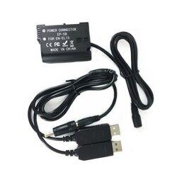 EN-EL15 Аккумуляторный соединитель-адаптер + двойной USB зарядный кабель для камеры Nikon и банка питания, заменяющий EL15A EP-5B, как EH-5