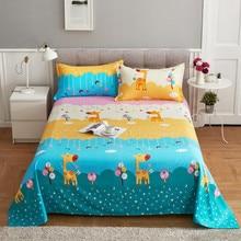 Impresión de dibujos animados 1 PC niños ropa de cama plana sábana estampada simple/doble cama doble reina rey tamaño sábanas