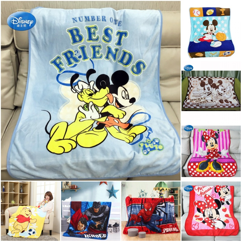 Disney Babies Mickey /& Minnie Mouse Flannel Receiving Blankets-TWO blankets
