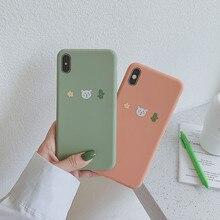 Korea Cute Cartoon Rabbit Cactus Flower Phone Case Silicone Cover For iPhone cover X XS Max XR coque 6 6s 7 8 7Plus girls case