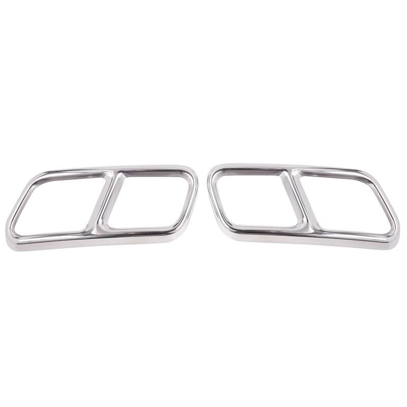 Otomobiller ve Motosikletler'ten Egzoz Montaj'de Mercedes Benz S sınıfı için W222 Coupe R sınıfı W251 10 17 Gl sınıfı X166 13 15 Amg parça 304 çelik egzoz kapağı Trim title=