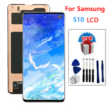 "SUPER AMOLED 6.1"" LCD Display For SAMSUNG Galaxy S10 G9730 LCD Display Touch Screen Digitizer Replacement"