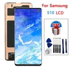 """SUPER AMOLED 6.1 """"wyświetlacz LCD do SAMSUNG Galaxy S10 G9730 wyświetlacz LCD wymiana ekranu dotykowego Digitizer"""
