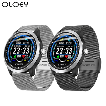 ECG PPG Smart Watch Men With Wlectrocardiogram Display Holter Heart Rate Monitor Blood Pressure Waterproof Android Smartwatch jelly comb n58 smart watch ecg ppg blood pressure measurement electrocardiograph ecg display holter men smartwatch waterproof