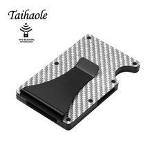 Taihaole металлический бумажник из углеродного волокна с отделением