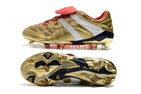 New Original Outdoor Top Superflys FG AG Soccer Cleats Boots Turf Mens Football Boots High Ankle Soccer Boots Gold White
