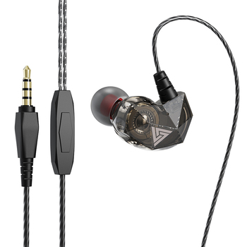 Auriculares con cable QKZ AK2, auriculares estéreo con cancelación de ruido y micrófono