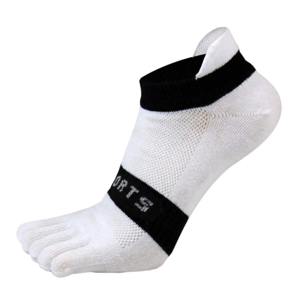 38-43 Men Outdoor Sports Bicycle Socks 1Pair Breathable 5 Finger Toe Slipper Sock Coolmax Pro Cycling Running Socks BC0337 (6)