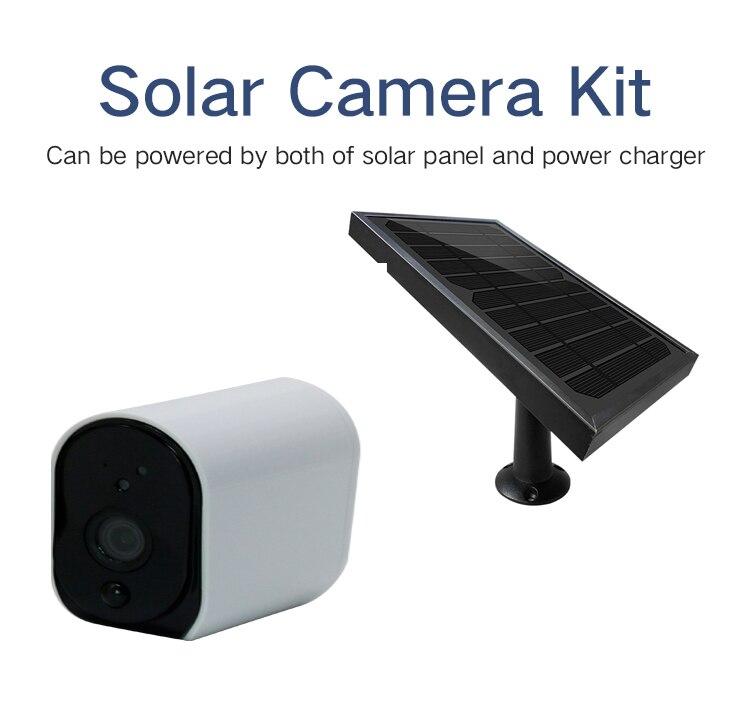 YobangSecu Outdoor Security Camera 1080P 2.0MP HD Solar Powered Battery WIFI IP Camera CCTV Surveillance Waterproof IP Camera