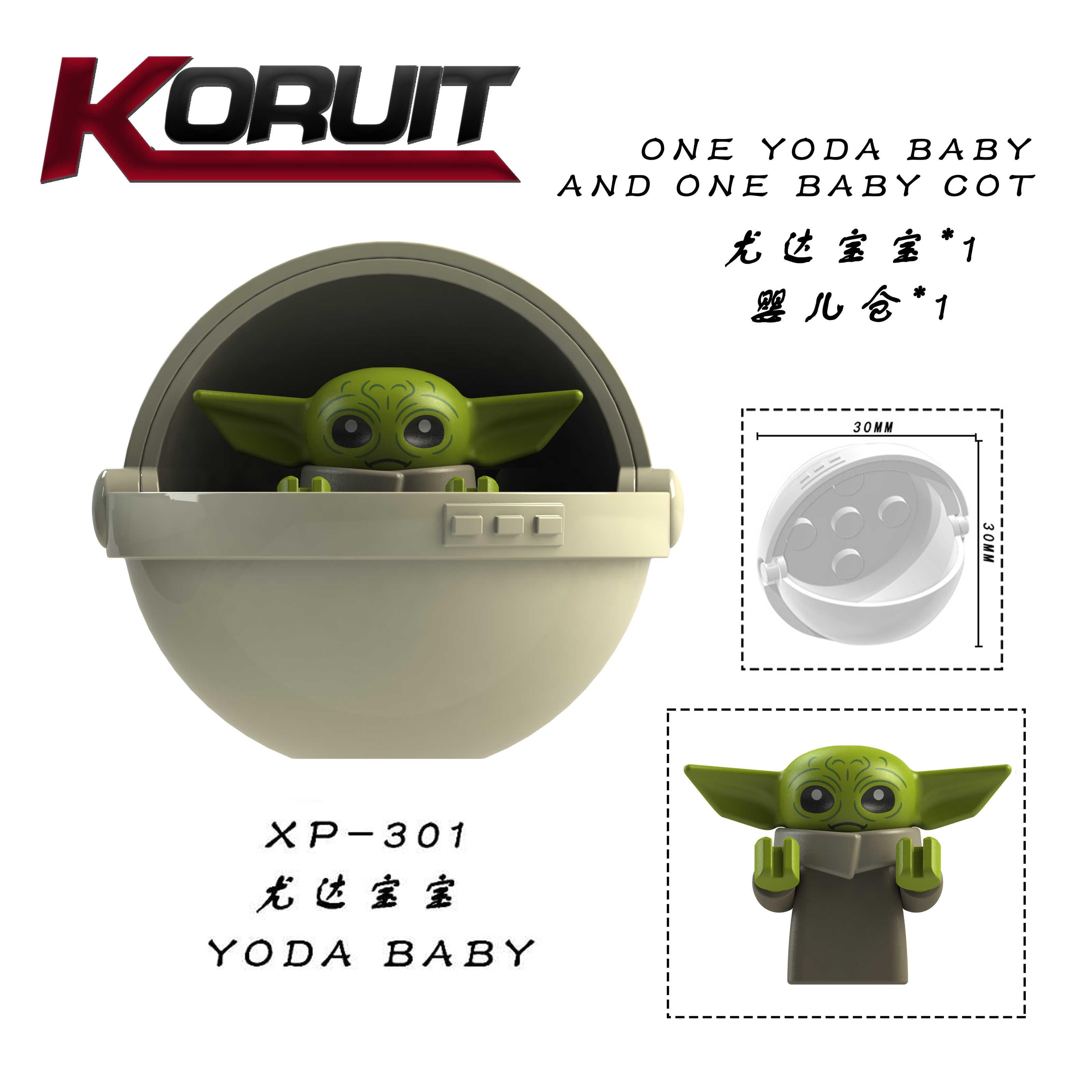 Singola vendita Star guerra Mandalorian Yoda bambino star wars Darth Vader Maul Sith Malgus Han Ewok Blocchi di Costruzione Giocattoli Per bambini