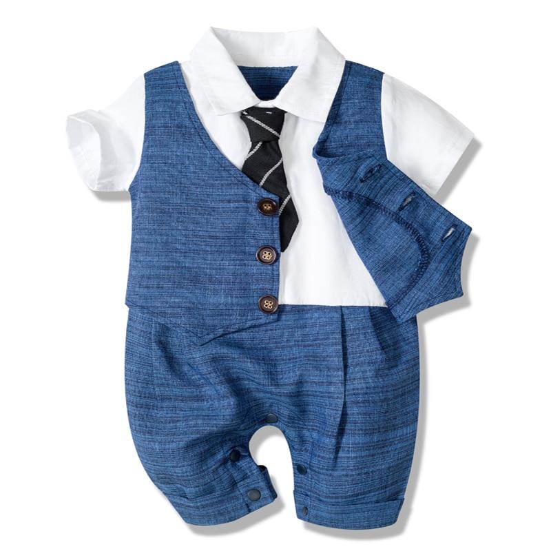 Летний детский комбинезон Одежда для новорожденных, комплекты для мальчиков официальная одежда из хлопка детская шапочка + комбинезон + туфли + носки партия из 4 штук наряд синее покроя «Принцессы» 3