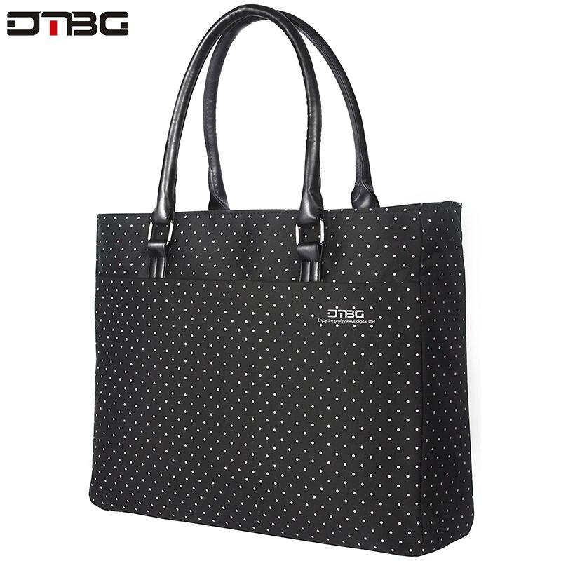 DTBG Laptop Totes For Women Vintage Dot Printed Business Waterproof Handbag Ladies Office Water Resistant Computer Briefcase