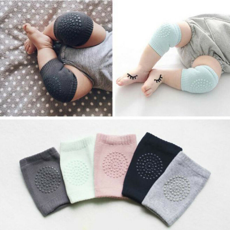 2019 Baby Kids Accessories Leg Elbow Protector Knee Pad Safety  Walking Crawling Elbow Cushion No-Slip Safety Guards 5 Colors