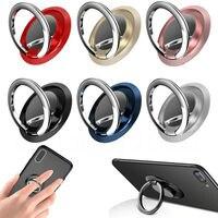 Soporte de anillo de dedo giratorio 360 para teléfono móvil, montaje magnético, pegatina trasera, almohadilla, soporte universal
