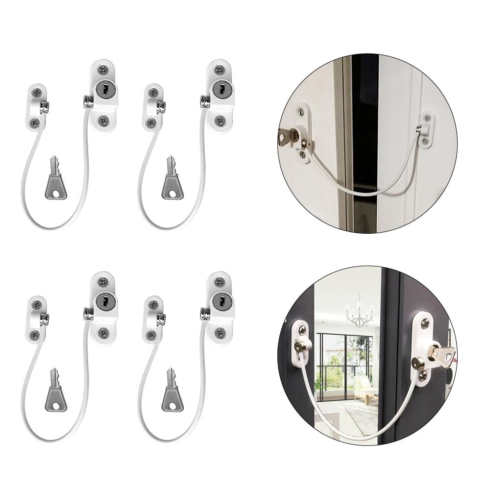 4 Pcs/lot Protection From Children Child Lock Baby Safety Window Lock Door Stopper Childproof Door Locks Window Restrictors