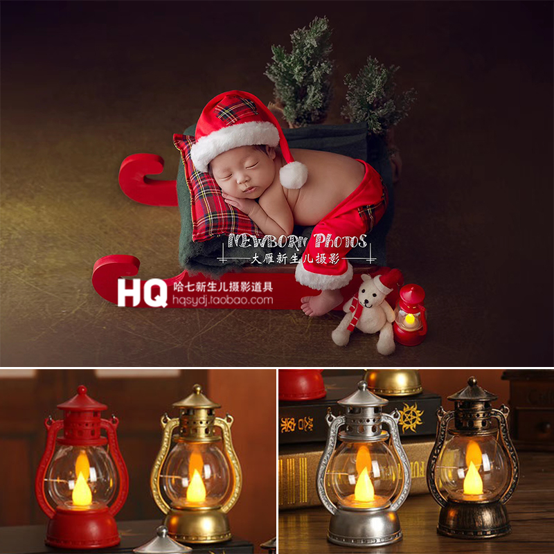 Newborn Photography Vintage Lamp Baby Photo Phooting Props Infant DIY Props Studio Accessories Retro Mini Small Decoration