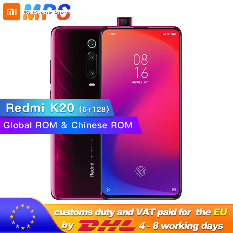 """Global Rom Xiaomi Redmi K20 6GB 128GB Mobilephone Snapdragon 730 48MP Rear Camera Pop up Front Camera 4000mAh 6.39"""" AMOLED-in Cellphones from Cellphones & Telecommunications    1"""