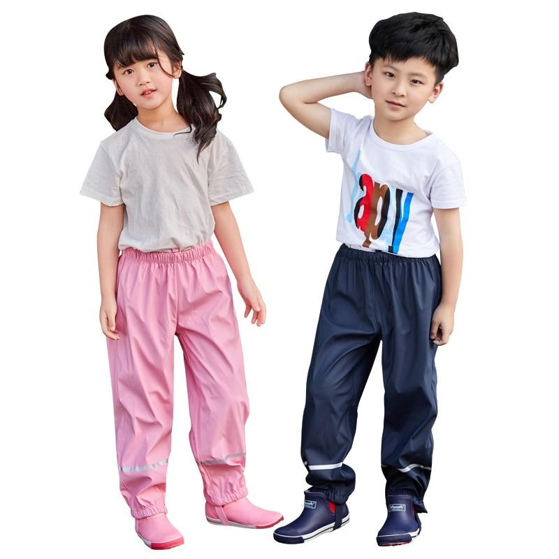 2020 Summer PU Baby Boy Trousers Waterproof Sport Toddler Girl Pants Autumn Children Outerwear Clothes Unisex Kids Sport Wear