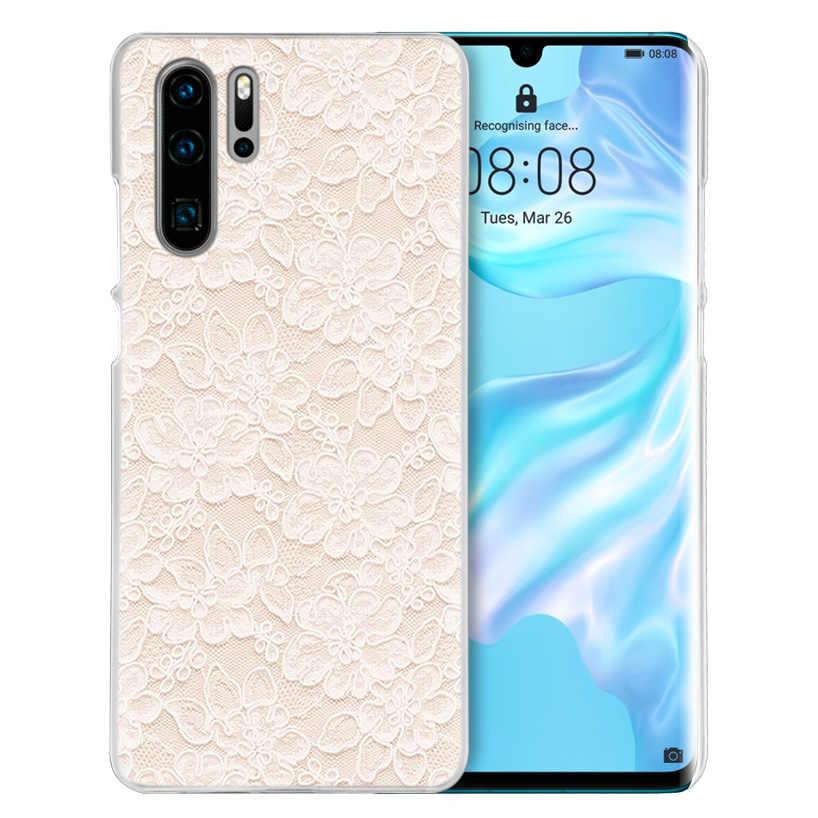 ลูกไม้และดอกไม้สำหรับHuawei P40 P30 Lite P S Z Plus Y9 Prime 2019 Honor 9S 9A 9C 20i 20Pro 20Lite PCฝาครอบโทรศัพท์กระเป๋า