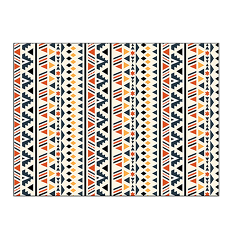 Купить богемный ковер геометрический полосатый марокканский в этническом