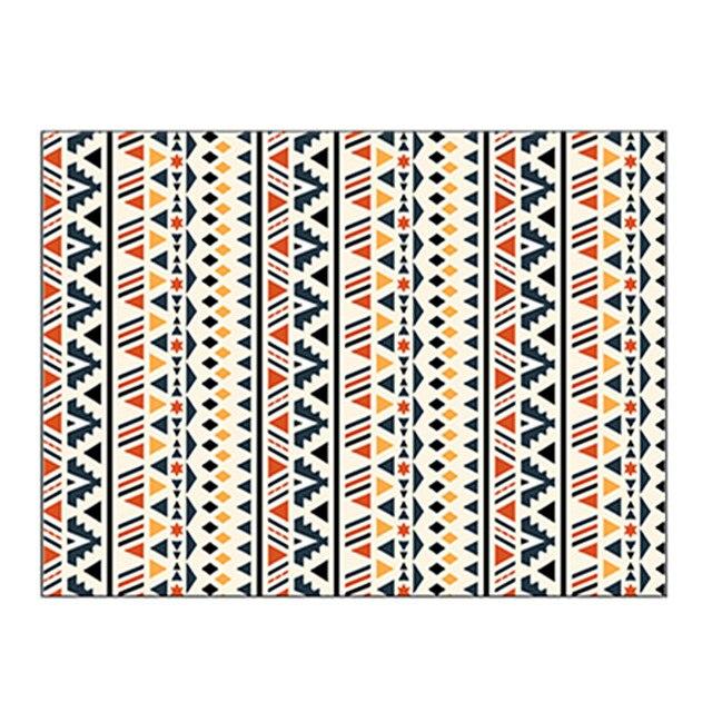 Фото богемный ковер геометрический полосатый марокканский в этническом